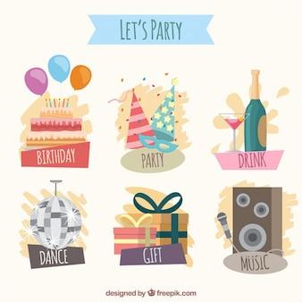 Elementos de vámonos de fiesta