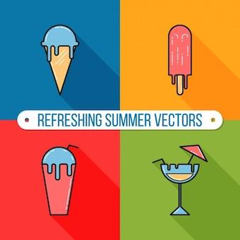Elementos de verano a color
