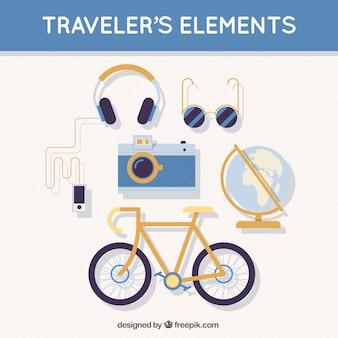 elementos de viajero
