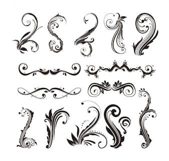 Elementos decorativos para el diseño web. estilo antiguo.
