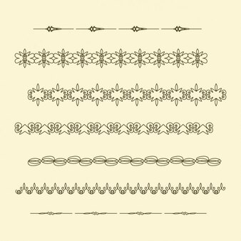 Elementos decorativos separadores