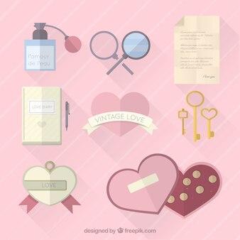 Elementos del amor del vintage