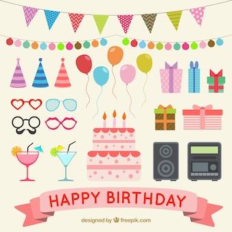 Elementos del feliz cumpleaños
