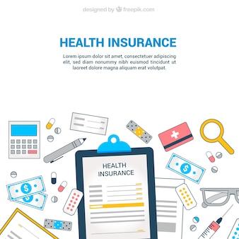 Elementos del seguro de salud desordenados