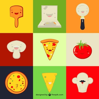Elementos divertidos de restaurante italiano