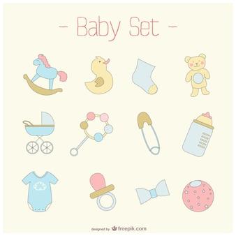 Elementos gráficos de bebés