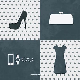 Elementos gráficos de moda
