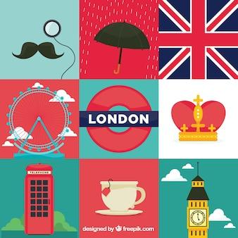 Elementos ilustraciones de Londres