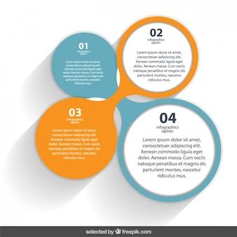 Elementos infográficos circulares