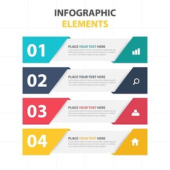 Elementos infográficos de banners corporativos