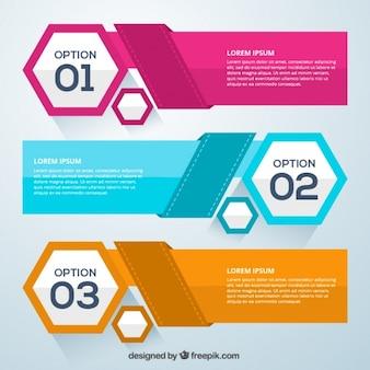 Elementos infográficos de opciones