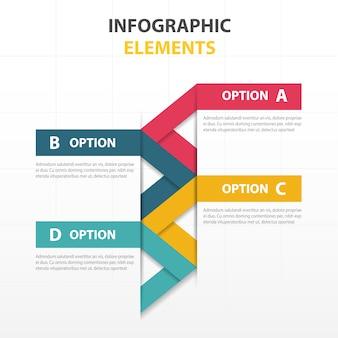 Elementos infográficos, estilo geométrico
