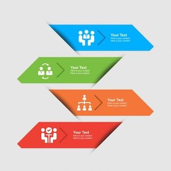 Elementos infográficos modernos de colores