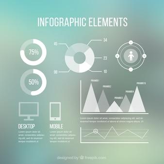 Elementos infográficos modernos