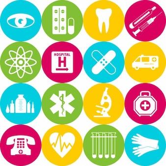 Elementos médicos coloridos