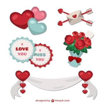 Elementos ornamentales para San Valentín