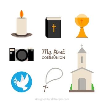 Elementos para el día de la primera comunión