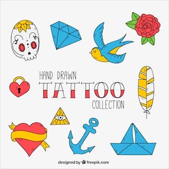 Elementos para tatuajes vintage