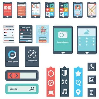 Elementos para una aplicación móvil