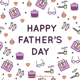Elementos violetas de padre
