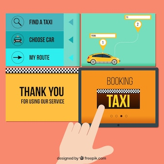 Elementos web de taxi
