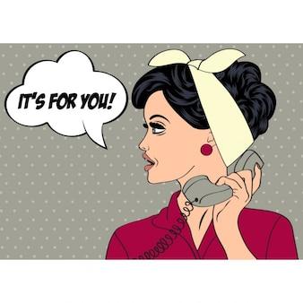 Ella recibe una llamada