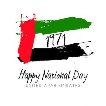 Emiratos Árabes unidos, fondo día de la independencia con una bandera
