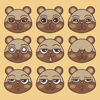 Emoticones, osos