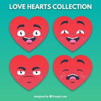 Emoticonos de corazones
