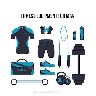 Equipamiento de fitness moderno para hombre