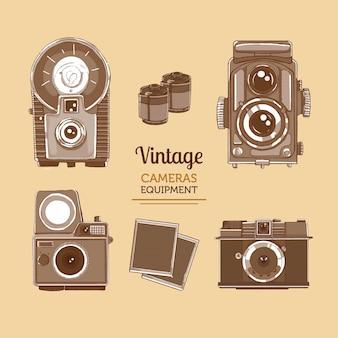 Equipo de cámara vintage