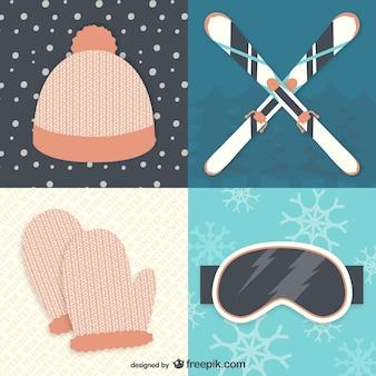 Equipo de invierno y esquí