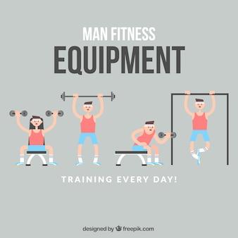 Equipo fitness de hombre