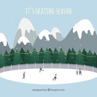 Es la estación del patinaje