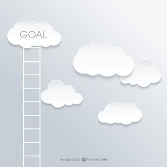 Escalera al éxito concepto