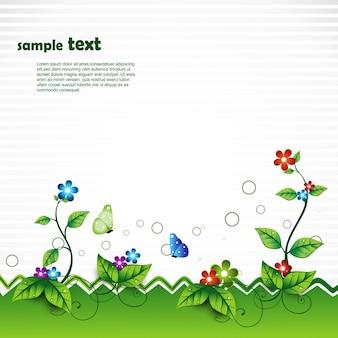 Escena de naturaleza vectorial con espacio para texto