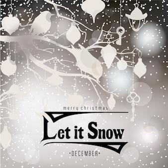 Escena navideña con nieve