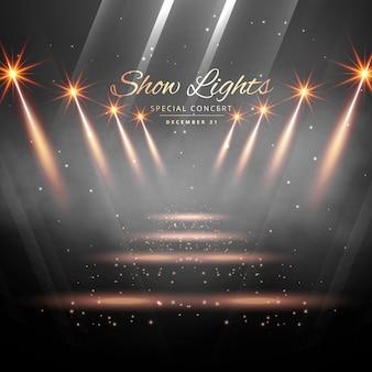 Escenario con luces de show