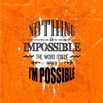 Escritura desgastada  Nada es imposible