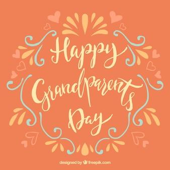 Escritura vintage de feliz día de los abuelos