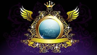 Escudo de oro decoración