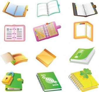 Escuela suministra icono cuadernos vector