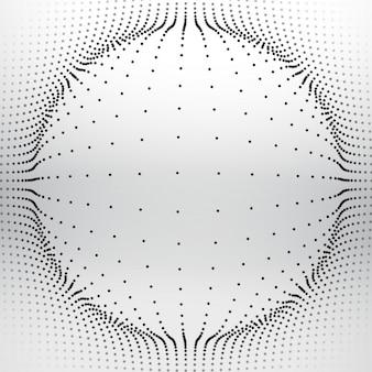 Esfera de malla hecha con puntos circulares