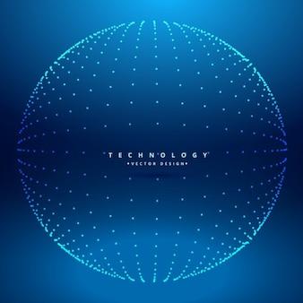 Esfera de puntos azul