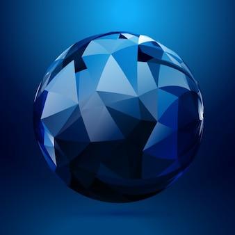 Esfera en 3d hecha con formas geométricas