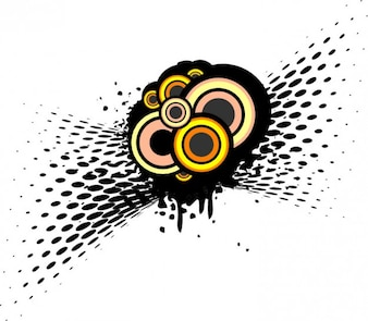 Esferas y medios tonos detalle la composición