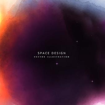 espacio colorido diseño de fondo