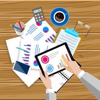 Espacio de trabajo lleno de documentos