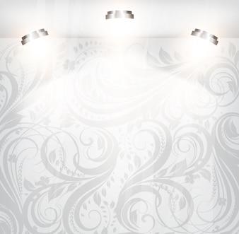 Espacio tienda decorado escena blanco