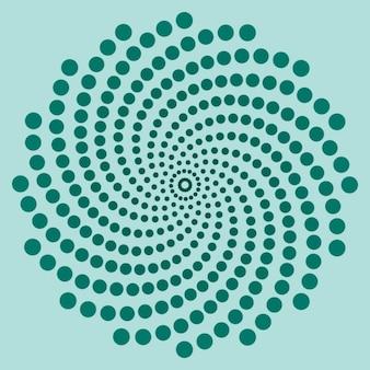 Espiral azul hecha con puntos